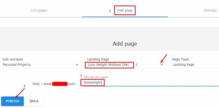 13.Setup your page in WordPress