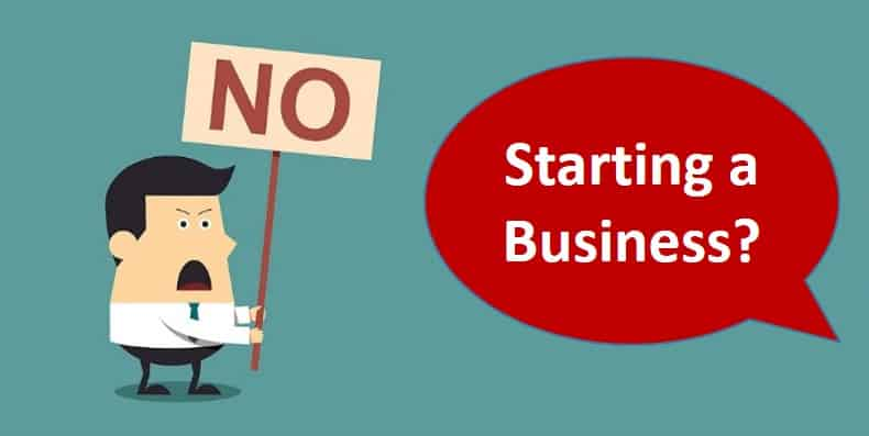 Say No to starting a business (featured)